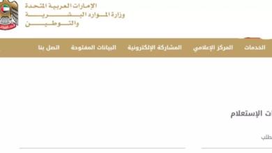 استعلام وزارة العمل الامارات