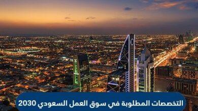 التخصصات المطلوبة في سوق العمل السعودي 2030