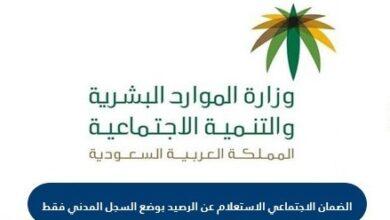 الاستعلام عن رصيد الضمان الاجتماعي في السجل المدني السعودي