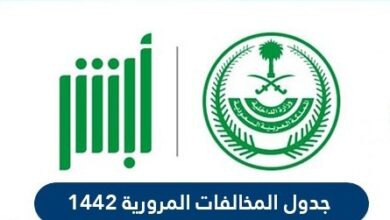 جدول المخالفات المرورية 1442 في السعودية