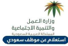 الاستعلام عن موظف سعودي في التأمينات الاجتماعية