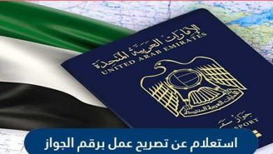 كيفية الاستعلام عن تصريح عمل برقم جواز السفر الامارات