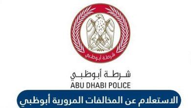 الاستعلام عن المخالفات المرورية لرخصة القيادة ابو ظبي الامارات