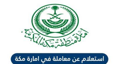 الاستعلام عن معاملة في منطقة مكة المكرمة السعودية